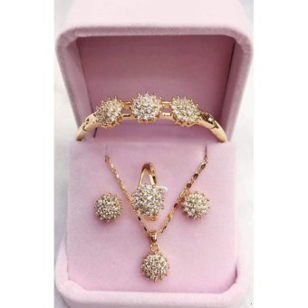 Harga Mei Mei Crystal 4 in 1 Jewelry Set