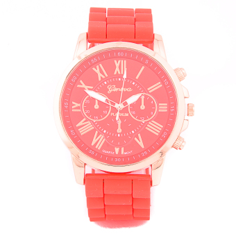 Geneva New Roman Numerals Candy Watch- Red Price Philippines