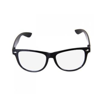 Unisex Black Frame Clear Lens Glasses Nerd Cool Geek Price Philippines