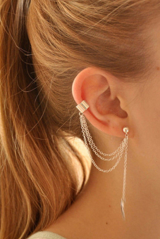 Buytra Girl Earring Leaf Chain Tassel Dangle Silver Price Philippines