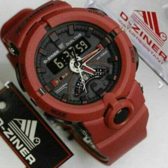Harga D-ZINER DZ-8174 Sporty Watch (RED)