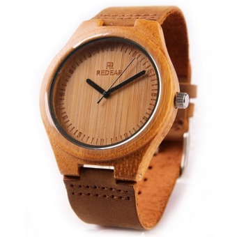 Bamboo pure wood watches for men and women bamboo Watch Leather Watch - intl Price Philippines