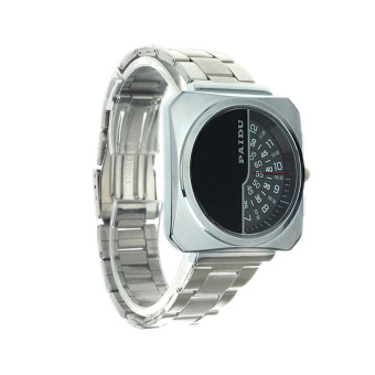 Harga US Fashion Mens Sport Quartz Stainless Analog Band Wrist Watch (Black)