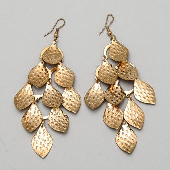 Jewelmine Plant Leaf 18k Hoop Plated Earrings (Gold) Price Philippines