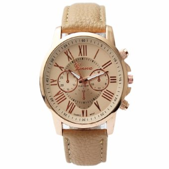 Geneva Women's Roman Cream Leather Strap Watch Price Philippines