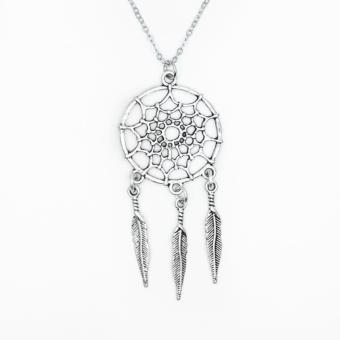 Patrick Lovebird Dreamcatcher Long Necklace (Antique Silver) Price Philippines