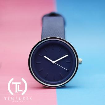 Timeless Manila Round Colored Denim Leather Watch (Navy Blue) Price Philippines
