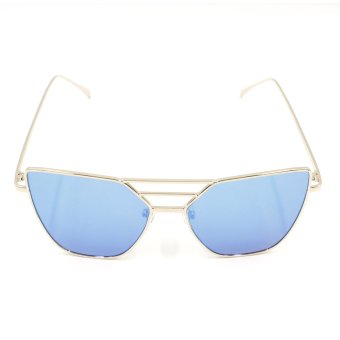 Harga Protech Fashion Butterfly Style Shades Women's Sunglasses 1002 (Copper/Blue)