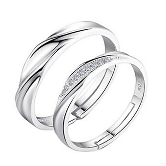 Men Women Jane Love Silver Couple Rings Lovers Wedding Band Promise Ring Price Philippines