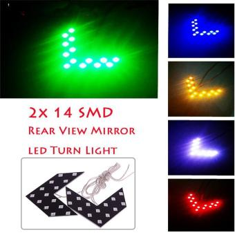BUYINCOINS LED Arrow Panel Signal Turn Indicator Light Set of 2 - Blue - intl Price Philippines
