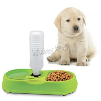 Harga Rising Star Dog and Cat Pet Feeder With Water Refilling Multicolor