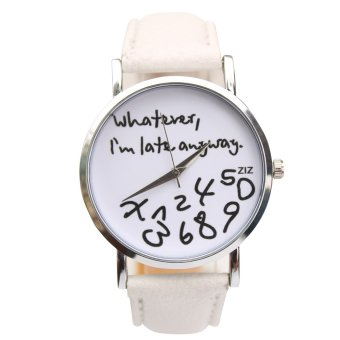 Stephen Cool Whatever Leather Strap Watch (White) Price Philippines