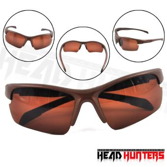 Harga Protech Fashionable Motorcycle Riders Unisex Sunglasses - Sun Protector Shades (Brown)