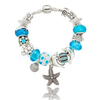 Harga Rising Star Europe and the United States trendy 925 Silver Pandora charm bracelet crystal bracelet B15409