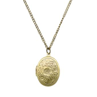 Patrick Lovebird Oval Locket Long Necklace (Antique Bronze) Price Philippines