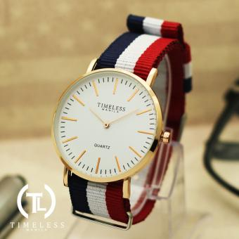 Timeless Manila Carl Nylon Adjustable Watch (Red/White/Blue) Price Philippines