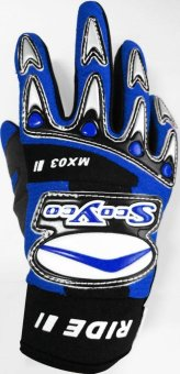 "Scoyco® MX-Series MX-03 Motorcycle Gloves ""Lycra"" Material Motocross MX Racing (Blue) (XS) Price Philippines"