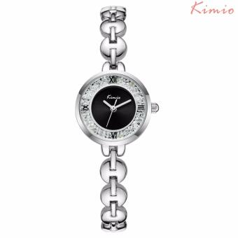 Harga Kimio Stainless Steel Strap Women's Watch KW6032S (Silver/Black)