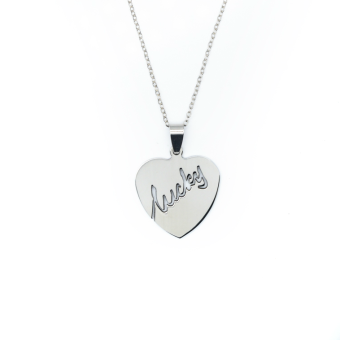Patrick Lovebird Lucky Heart Long Necklace (Silver Tone) Price Philippines