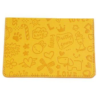Hang-Qiao PU Leather Cartoon Passport Card Holder Cover Yellow Price Philippines