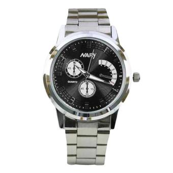 Harga Nary Stainless Steel Strap Women's Watch NR6017-2 (Silver/Black)