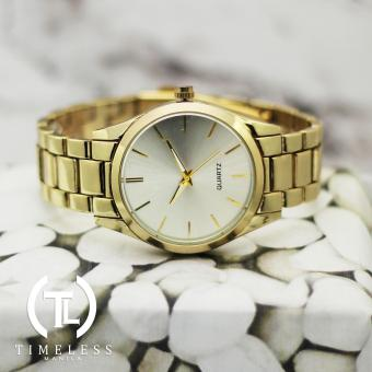 Timeless Manila Linear Plain Elegant Metal Watch (Gold/White) Price Philippines