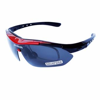 FURY SAVA 5 LENS MULTISPORT SUNGLASSES BLACK/RED Price Philippines