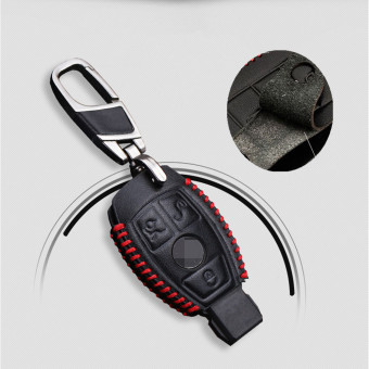 Leather Smart Car Key Case Cover For Mercedes Benz W203 W210 W211 AMG W204 C E S CLS CLK CLA SLK Classe Car Styling - intl Price Philippines