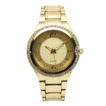 Timeless Manila Crystal Studded Gold Metal Watch (Gold) Price Philippines