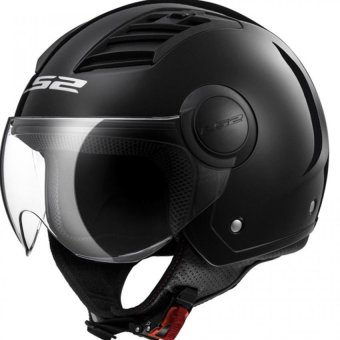 Harga LS2 Open Face OF562 Airflow Jet Helmet (Black)