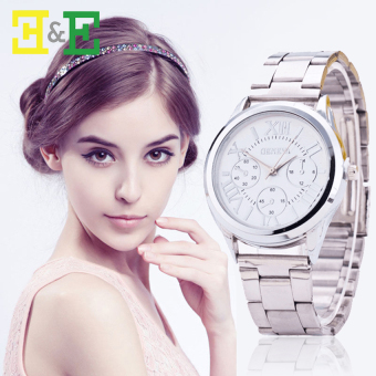 Geneva Roman Numerals Women's Silver Steel-belt Watch SY-3 Price Philippines