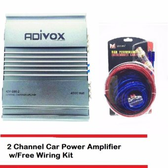 Harga ADIVOX ADV-680.2 2CH MOSFET POWER AMPLIFIER with FREE Car Amplifier Wiring Kit