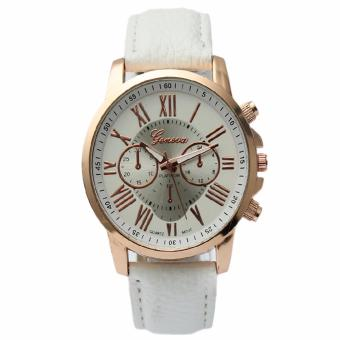 Geneva Women's Roman White Leather Strap Watch Price Philippines