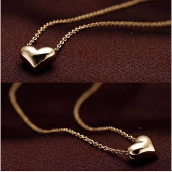 Harga G@Best Simple Design Chic Gold Chain Heart Love Pendant