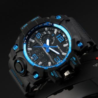 Orien Man Waterproof Electronic Multi-functional Outdoor Sports Watch(Blue) - intl Price Philippines