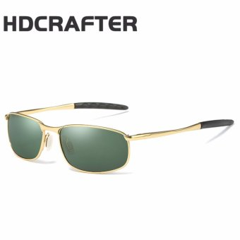 Harga HDCRAFTER New Polarized Men's Sunglasses Sports Metal Frame Sun Glasses Men Driving Goggle Eyewear - intl