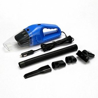 Harga [Blue] Portable Car Vacuum Cleaner 12V DC Cable Length 5M Car care kit - intl