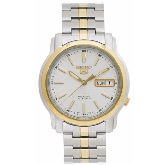 Harga Seiko Automatic Silver/Gold Stainless Steel Band Men'S Watch Snkl84K1
