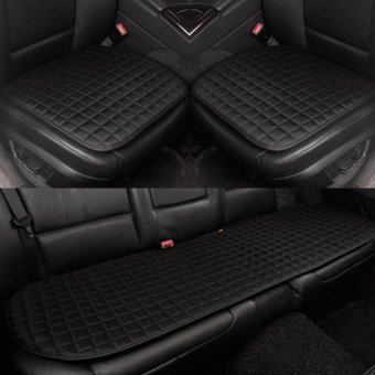 Harga Auto Seat Cushion,Front and Rear Row,All Seasons,Non-slip Fabric,No Installation,Interior Accessories,Black - intl