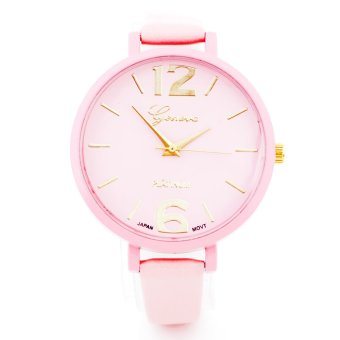 Chic Geneva Narrow Leather Strap Watch ( Pink ) Price Philippines