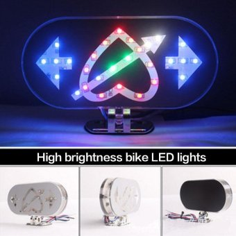 Motorcycle Motorbike Brake Tail Turn Signal Light LED Arrow Through Heart Lamps - intl Price Philippines