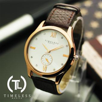 Timeless Manila Ivy Studded Leather Watch (White) Price Philippines