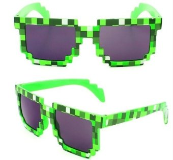 Harga Minecraft Creeper Boys Girls Kids Children Gme Toys Sunglasses Glasses knickknack XMAS GIFT(color:Green)