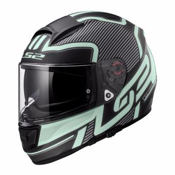 Harga LS2 Full Face FF397 Evo Orion Graphics2 Helmet (Matte Black)
