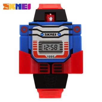 Harga SKMEI Kids LED Digital Children Watch Cartoon Sports Watches Relogio Robot Transformation Toys Boys Wristwatches 1095