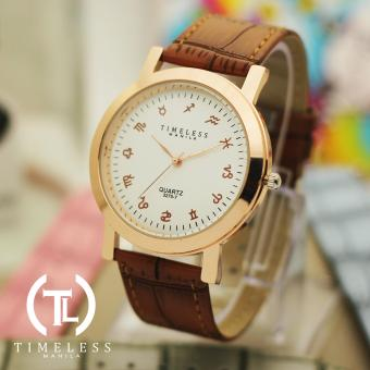 Timeless Manila Celine Pastel Zodiac Sign Face Watch (Brown) Price Philippines