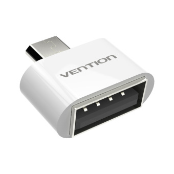 Harga VENTION VAS-A07 Micro USB To USB OTG Adapter 2.0 Converter for All Android Tablet Pc to Flash Mouse Keyboard (White) - intl
