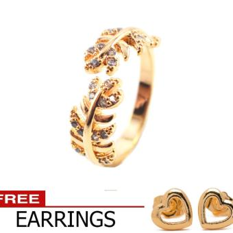 Harga Piedras Diamond like Cubic Zirconia 18kt Italian Gold Ring