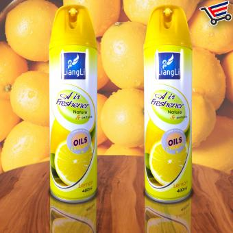 Harga LiangLi Odor Eliminator Air Freshener Spray 480mL (Lemon) Set of 2