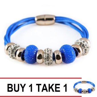 Athena & Co. Buy 1 Take 1 Soho Leather Bracelet (Blue) Price Philippines